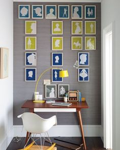Make silhouettes of family members or anyone or anything else, frame them identically, and group them on a wall. This is a project for really craft-y types.