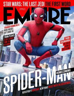 Empire Summer 17 with your friendly neighbourhood Spider-Man on the cover! Plus the first word on Star Wars: The Last Jedi Twin Peaks, Tom Holland, Marvel Dc, Marvel Heroes, Dc Comics, Damien Chazelle, Empire, Michael Bay, Spider Man