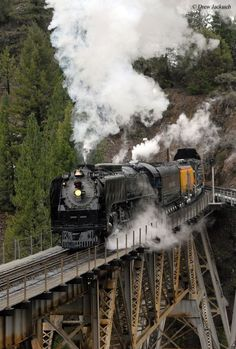 By Train, Train Tracks, Train Rides, Union Pacific 844, Union Pacific Railroad, Old Steam Train, Railroad Pictures, Old Trains, Vintage Trains
