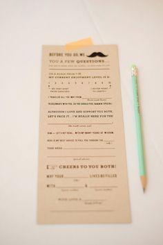Wedding Adlibs Guestbook Alternative by myaugustpress on Etsy