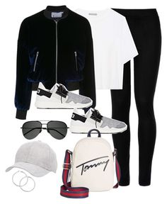 """Untitled #3237"" by theaverageauburn on Polyvore featuring Wolford, Vince, T By Alexander Wang, Y-3, Tommy Hilfiger, Charlotte Russe and Yves Saint Laurent"