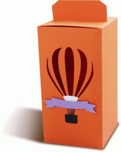 Silhouette Design Store - View Design #76499: box with a hot air balloon