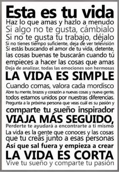 Esta es tu #Vida... #Citas #Frases @Candidman by Maiden11976