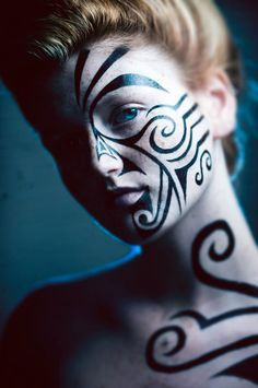 body art on pinterest tribal wolf tattoos tribal wolf and celtic dragon. Black Bedroom Furniture Sets. Home Design Ideas