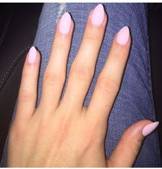 almond shaped french tip nails - Google Search