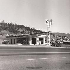 "Ed Ruscha. Phillips 66, Flagstaff, Arizona, 1962. From ""Twentysix Gasoline Stations"""