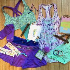 Mermaid scales + sea foam green tones for summer days to beach waves. Yoga Fashion, Tween Fashion, Cute Fashion, Fitness Fashion, Cheer Outfits, Dance Outfits, Sport Outfits, Girl Outfits, Athletic Outfits