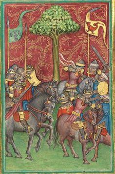 Albrecht : Jüngerer Titurel (2. Teil, ab Str. 2822) 1. Hälfte 15. Jh. Cgm 8470 Folio 97