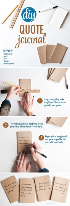 How to Make a Quote Journal Gift 2