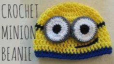 crochet minion beanie - YouTube