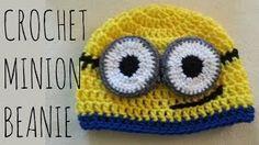 crochet minion beanie - YouTube