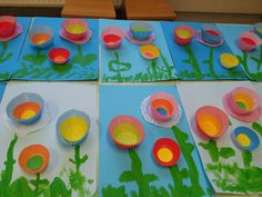 muffin papír virágok