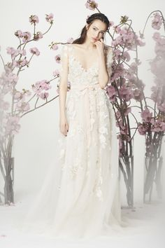 Everything about the Marchesa Notte spring collection is fabulous! http://www.stylemepretty.com/2017/05/01/most-beautiful-spring-2018-wedding-dresses/