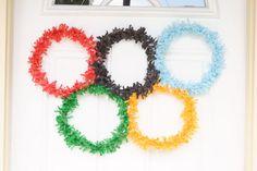 Confetti Sunshine: DIY Olympic Door Wreath