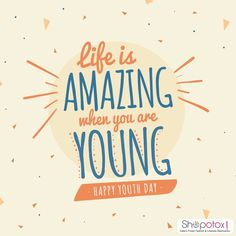 Background for Youth Day with a nice quote Free Vector Youth Day, Best Online Shopping Sites, When You Were Young, People Dancing, Party Poster, Happy People, Printable Wall Art, Kids Playing, Best Quotes