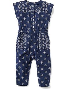 Old Navy Toddler Girls Spring Fashion - Mixed-Print Romper for Baby