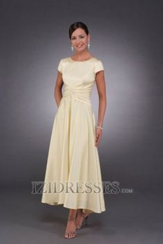 A-Line Princess Scoop Chiffon Mother Of The Bride Dress - IZIDRESSES.COM at IZIDRESS.co.uk