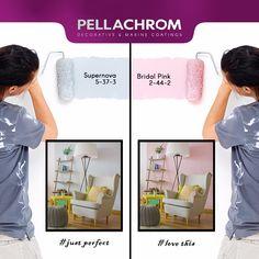 Ποια απόχρωση θα διαλέγατε για το χώρο σας?   #pellachrom #colors #paints #interior Color Combinations, Bridal, Interior, Pink, Decor, Laughing, Rome, Color Combos, Decoration
