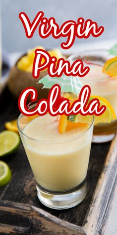 What is the BEST summertime drink? This Pina Colada recipe of course! But this creamy drink doesn't have to alcohol to be amazing! Make a big pitcher of this fruity drink and serve it to the whole family! What Is Pina Colada, Frozen Pina Colada, Virgin Pina Colada, Pina Colada Recipe Non Alcoholic, Alcoholic Shots, Alcoholic Desserts, Drinks Made With Rum, Fruity Drinks, Frozen Drinks