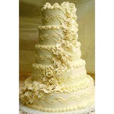 Wedding-Cakes   Carlos Bakery : Cake Boss Wedding Cake W206   TheRingBearer.ca found on Polyvore