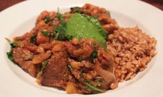 fragrant autumn pork & pumpkin stew served with deliciously chewy farro & sage-spinach-kale-pumpkin seed pesto......a wonderfully aromatic, delicious, healthy......& easy......Halloween entrée to serve throughout Autumn...... IMG_2902
