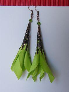 earrings with ribbons :) Turn out nice:)