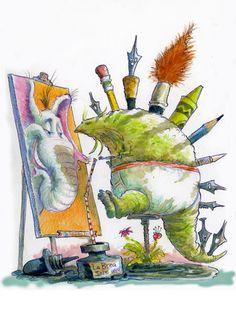 """""""Mastodon Draws Elephant"""" by Dave Catrow"""