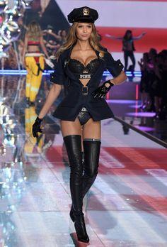 Leather Leather Leather Blog: Josephine Skriver - Victoria's Secret Fashion Show 2015