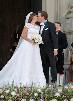 El vestido de novia de la princesa de Magdalena de Suecia