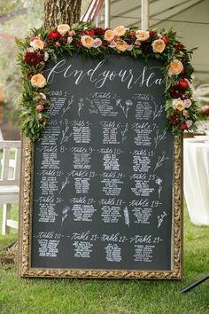 plan de table mariage tableau
