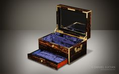 Asprey Antique Coromandel Jewellery Box with Countess Coronet Monogram - DanielLucian.com