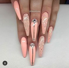 Over 43 short decorated nail patterns for you to inhale- Page 21 of 42 - All For Hair Color Trending Dope Nails, Glam Nails, Fun Nails, Blush Nails, Nail Swag, Fabulous Nails, Gorgeous Nails, Stylish Nails, Trendy Nails