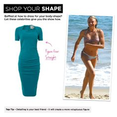 Straight: Cameron Diaz, Top Tip – Detailing is your best friend - it will create a more voluptuous figure.