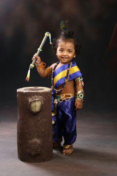 In Krishna Costume