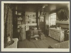 Woman in Tenement. I love her handiwork. Such a lovely home