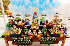 decoracao festa mario bros