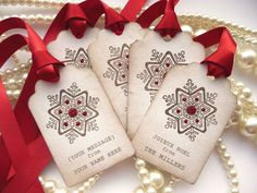 Custom Christmas Gift Tags - Personalised with your family name - Set of 20 £12.75