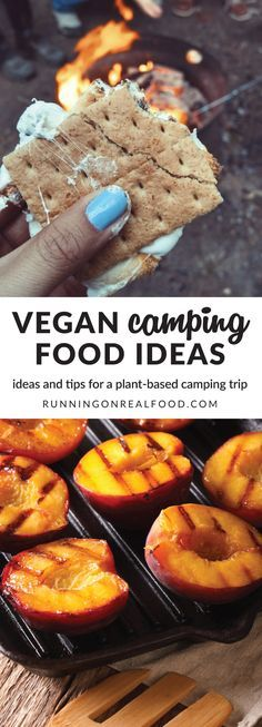 Planning a plant-based camping trip is easier than you think! Plus, with a vegan meal plan, no need to worry about storing meat, eggs or dairy. Check out these awesome tips and ideas for breakfast, lunch, dinner, snacks and generally making camping food easy and delicious. Vegan Camping Food Ideas and Tips: http://runningonrealfood.com/vegan-camping-food-ideas/