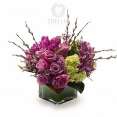 A dreamy arrangement of plum, lavender and mauve flowers for the romantic within.