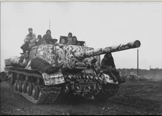 ISU-122 of the 59-th separate tank regiment  9th Mechanized Corps of the 3rd Guards Tank Army on the march in the Western Ukraine. 1944.