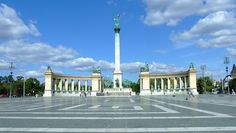 Heroes' Square (Hősök tere) is the largest and most impressive square of the city. Located at the end of Andrássy Avenue and next to City Park, Heroes' Square is one of the most visited sights in Budapest. Surrounded by two important buildings, Museum of Fine Arts on the left and Kunsthalle (Hall of Art) on the right, Heroes' Square is also a station of the Millennium Underground.