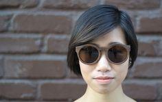 Bold Italic: Morgan Walnut Sunglasses
