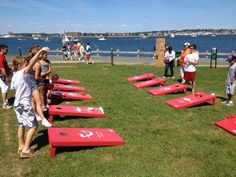 Sponsorship activations don't need to be flashy to be engaging -- this PUMA beanbag toss kept kids busy @ The America's Cup World Series while moms shopped at their pop-up shop.