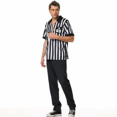 You'll call the shots in this referee Halloween costume! This outfit has everything you'll need to referee a game or Halloween party! Fancy Dress Up, Halloween Fancy Dress, Adult Costumes, Halloween Costumes, Men's Costumes, Costume Ideas, Sports Costumes, Halloween Ideas, Carnival