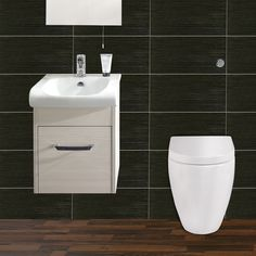 Create a contemporary look with the stylish Esssence Cloakroom Suite