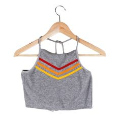 Venice Beach Bralette: 70s retro rainbow terrycloth halter bralette. Pair with the Venice Beach Shorts to channel Chrissy from Three's Company while you're poolside. #CampCollection www.shopcamp.com