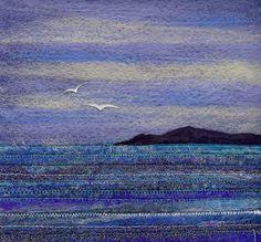 West Coast Tranquillity | Needle felt, machine stitching and… | Flickr