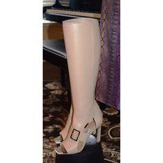 "HOST PiCKSalvatore Ferragamo GS700 Salvatore Ferragamo G700 Pegasus Boots. The heel height is 3 3/4"". The shaft is 16"". Salvatore Ferragamo Shoes"