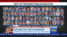 "On the morning of Donald Trump's inauguration, ABC spent a few minutes legitimizing the 60+ Democrats boycotting Trump as a sign of a ""divided nation."" Contrast that with eight years ago, when the networks were giddy and gushing about how great Obama's presidency was for the country."