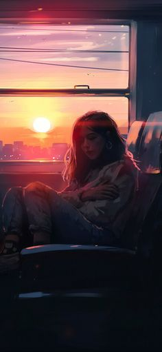 Alone Bus Ride, HD Artist Wallpapers Photos and Pictures Night Sky Wallpaper, Anime Scenery Wallpaper, Anime Girl Cute, Anime Art Girl, Animes Wallpapers, Cute Wallpapers, Aesthetic Anime, Aesthetic Art, Art Eras